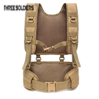 Molle padded waist vest TAN